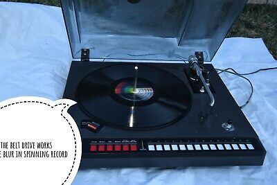 ADC Accutrac +6 Turntable Function Checked And Functioning/ Missing Remote Ball