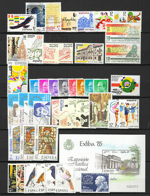 1985 España ** Año 1985 Completo, MNH - SPAIN FULL YEAR