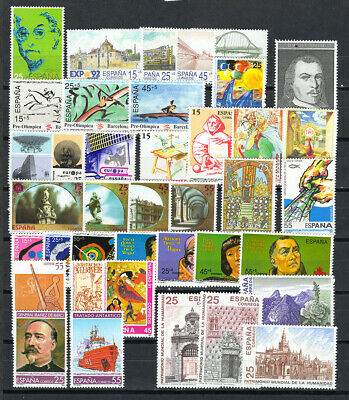 1991 España ** Año 1991 Completo, MNH - SPAIN FULL YEAR