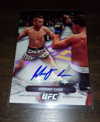 JOHNNY CASE Autograph - 2015 Topps UFC High Impact - signed card MMA