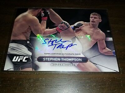 STEPHEN THOMPSON Autograph - 2015 Topps UFC High Impact - signed card MMA