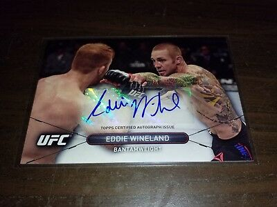 EDDIE WINELAND Autograph - 2015 Topps UFC High Impact - signed card MMA