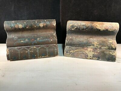 Antique Architectural Wood Moldings Corbels Salvage Original Hand Paint