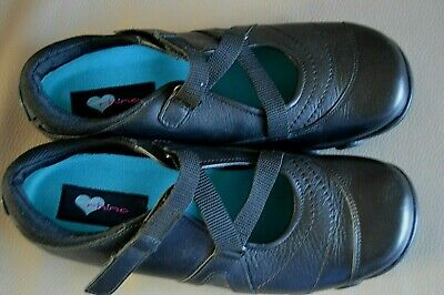 Miss Rhino Leather School Shoes Size Adult 5.5F  Wide Black