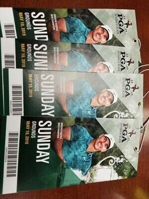 2019 PGA Championship Tickets Sunday Competition Grounds Pass