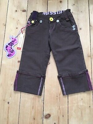 Miss Sixty cropped trouser/shorts age 8 brown purple casual summer NEW WITH TAGS