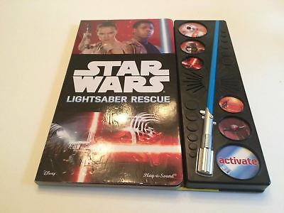 Disney Play-A-Sound Star Wars Lightsaber Rescue Book Harcover Light Up