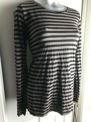 Michael Stars Maternity Striped  Long Sleeve OS FA  T-shirt top- one size
