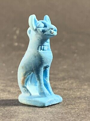 Great Condition - Circa 1230-715Bce - Ancient Egyptian Faience Bastet Amulet
