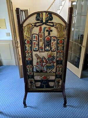 Egyptian Antique Wooden Double Sided Screen
