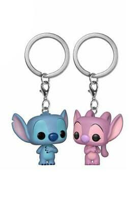 Lilo & Stitch Pack de 2 Llaveros Pocket POP Vinyl Stitch & Angel 4 cm Funko
