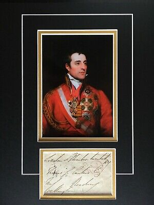 Duke Of Wellington - Victor At Waterloo & Prime Minister - Superb Signed Display