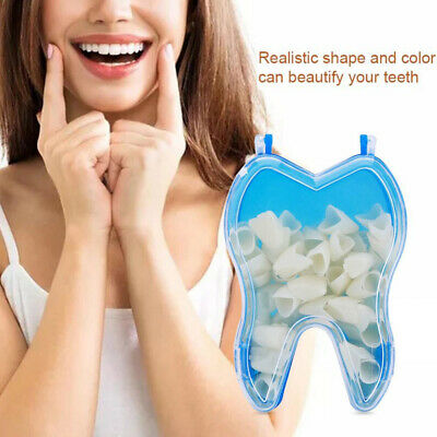50Pcs Ultra-Thin Dental Resin Teeth Temporary Crown Tooth Veneers Whitening Kit