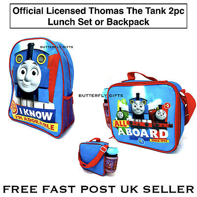 Thomas & Friends Lunch Box Set 2 Pc Kids School Bag Thomas Tank Engine Backpack