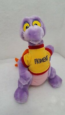 "Vintage 1982 Pre-Epcot Disneyland, Disney Figment 11"" Plush Purple Dragon euc"