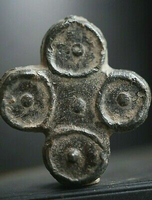 Ancient Norse Lead Cross. Stunning & Rare Viking Amulet Pendant, c 950-1000 Ad.