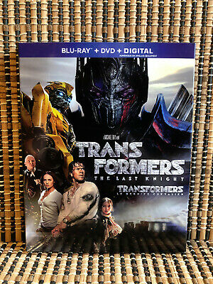 Transformers 5: The Last Knight (2-Disc Blu-ray,2017)+Slipcover.Mark Wahlberg