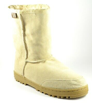 Australian Boot Co. Classic Shearling Boots Leather Sheep Fur Lined Unisex W8/M7