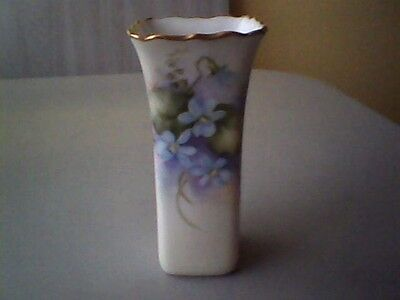 Beautiful Early 20th Century Hand Painted Signed Bud Vase!