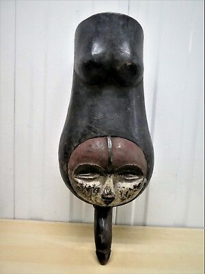 Old Tribal Vuvi Belly Mask Gabon Fes-GB1693
