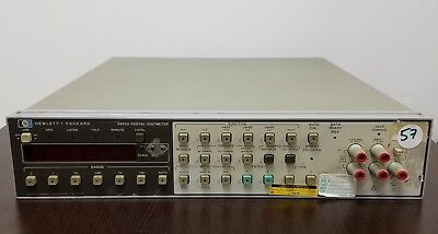 HP 3455A Digital Voltmeter Bench Test Equipment