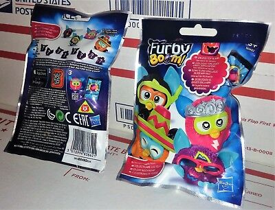 "New 10 PACKS Furby Boom Blind Bag Eggs 2/"" Mini Figures Mystery Official"