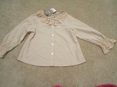NEXT baby girls special blouse lace collar button up long sleeves - 12 - 18mths