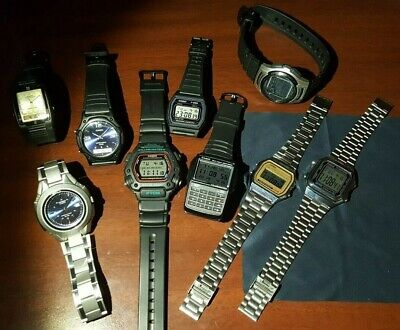 Lot Of 9 Casio Watch Collection Work Mint Dw290 F28W