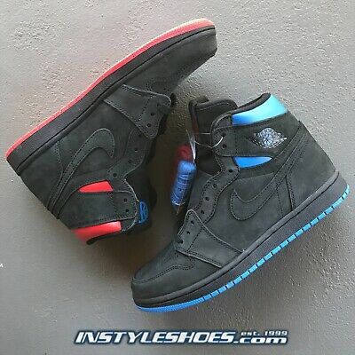 1ba9fd72cb7672 Nike Air Jordan 1 High Sz 8 DS Quai 54 Og Retro Black Red Italy Blue