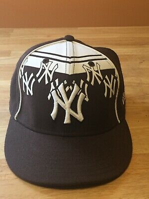 8243226c434 Era 59Fifty Cap MLB New York Yankees Mens Brown White Fitted 7 1 4 Size
