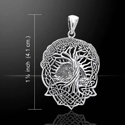 Sterling Silver Celtic Tree Of Life Pendant By Peter Stone.Pagan/Wiccan/Druid