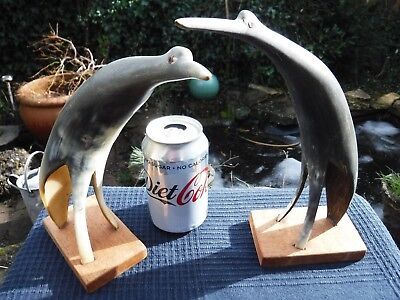 Pair of Bird Ornaments Made From Horn