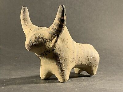 Authentic Ancient Indus Valley Terracotta Bull Idol Figurine Circa 2200-1800Bce