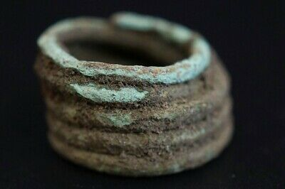 Ancient Viking Bronze Beard / Hair Wire Ring. Norse Eternity Loop, c 950-1000 Ad