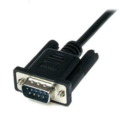 StarTech 1m Black DB9 RS232 Serial  Modem Cable F/M
