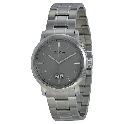 Bulova Men's 96B200 Quartz Classic Grey Dial Silver-Tone Bracelet 40mm Watch