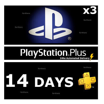 PSN PLUS 42 Days (3x14) DAY TRIAL - PS4 - PS3 - PS Vita - PLAYSTATION INSTANT