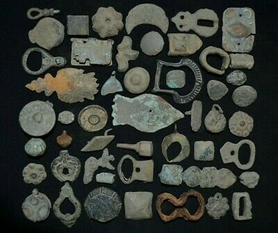 Group Excavation of 50 Ancient Viking Bronze Relics. Detector Finds, 950-1000 Ad