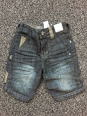 BNWTS Boys Next Shorts Age 3 Years Old Denim Adjustable Waist