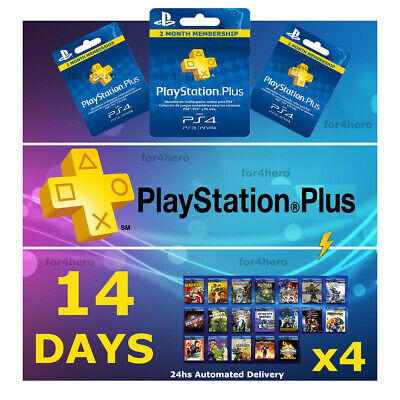 PSN PLUS 2 MONTH (4x14) DAY TRIAL - PS4 - PS3 - PS Vita - PLAYSTATION INSTANT