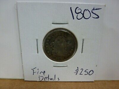 1805 Draped Bust Dime Coin - (Holed)