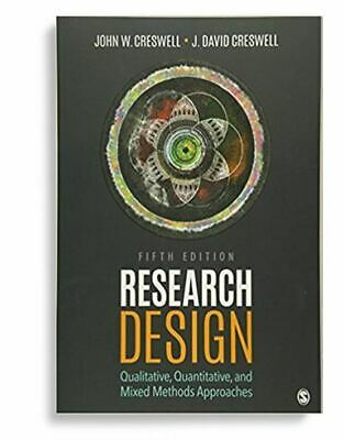 Research Design by John W. Creswell & J. David Creswell 5th Edition, New/Sealed