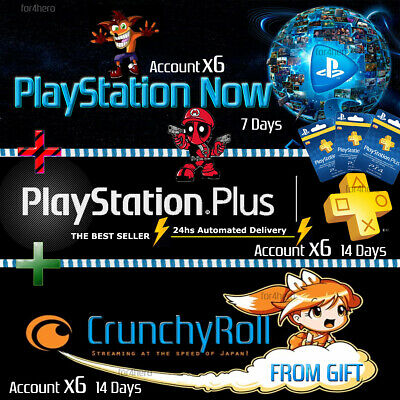 PSN PLUS 3 MONTH (6x14) DAY TRIAL - PS4 - PS3 - PS Vita - PLAYSTATION INSTANT