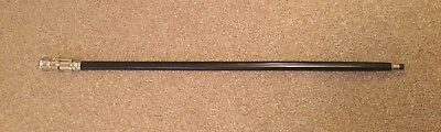 Black Wooden Walking Stick With Chrome Telescope Handle