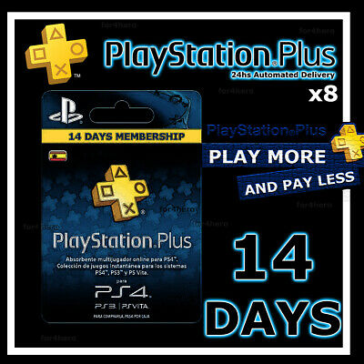 PSN PLUS 4 MONTH (8x14) DAY TRIAL - PS4 - PS3 - PS Vita - PLAYSTATION INSTANT