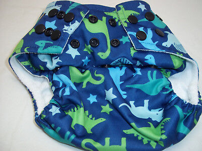 Jungle Roo Adjustable Cloth Diaper Cover Dinosaurs