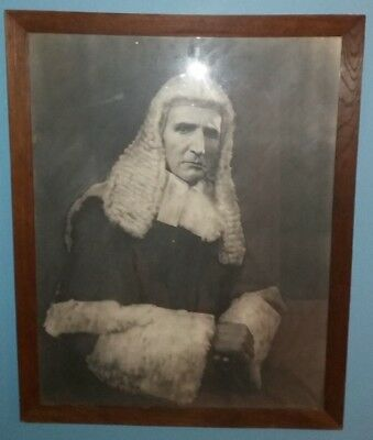 Huge Framed Photographic Print of a Judge Marylebone London W1 1930s 1940s 1950s