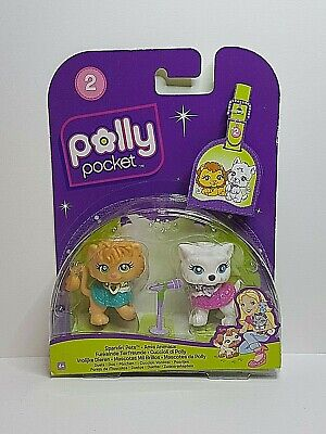 Polly Pocket AMIS ANIMAUX / Sparklin' Pets 50/51 M2652 M6589 Mattel 2008 NEW
