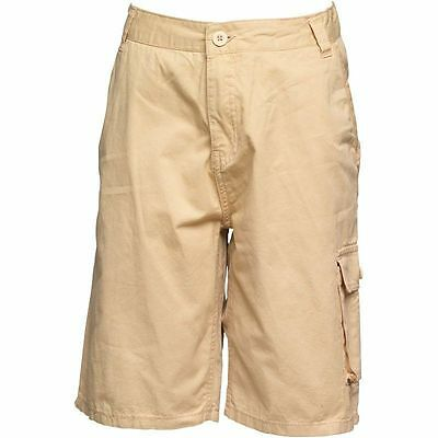 BNWT Firetrap Junior Boys Combat Cargo Shorts Five Pockets, Pale Beige  8-9yrs