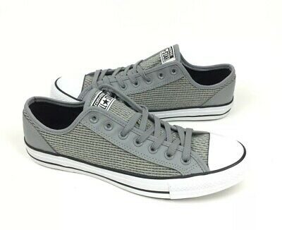 9a597668ce0873 NEW Converse Chuck Taylor CT Overlay Ox Low Mens Shoes Sneakers Gray Size 10